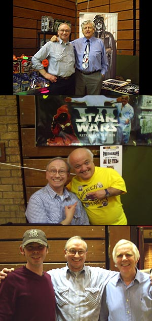 WALES<br>1. Gerald Home with Darth Vader himself - Dave Prowse<br>2. Gerald with Rusty JAWA Goffe<br>3. Gerald with Alan PLO KOON Ruscoe, and Jeremy BOBA FETT Bulloch