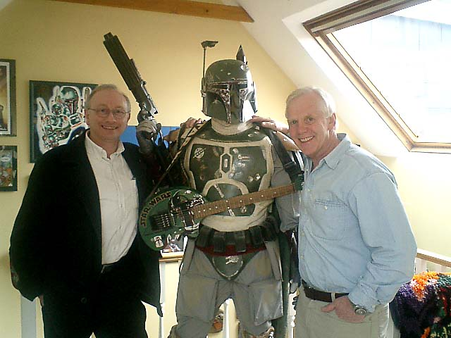 1. Gerald and many other Star Wars guests (thanks to Mark Penicud for the photo)<br>2. Gerald with Jeremy Bulloch and his superb Boba Fett collection