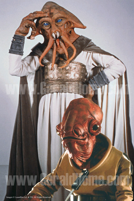 Gerald Home as Tessek - Squid Head and Mon Calamari Officer in:<br />