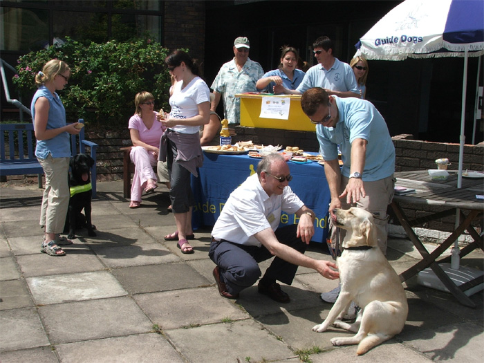 1. Gerald with Puppy Guide Dog Lucas, named after You-Know-Who<br>2. With his ROTJ premiere programme from 1983, autographed by many Star Wars personalities, which was auctioned in aid of Guide Dogs for the Blind<br>3. At the Guide Dog Training Centre in Essex, for National Shades Day