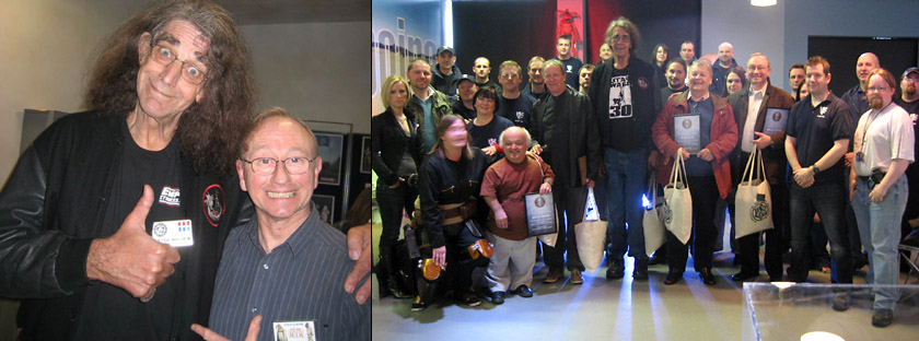 SCI-FI AT THE MOVIES EXHIBITION - SPACEPORT, UK<br>1. Gerald with Peter CHEWBACCA Mayhew<br>2. Gerald with KOTE members and guests Rusty JAWA Goffe, Paul GREEDO Blake, Peter Mayhew and Ian WES JANSON Liston<br>3. Gerald with Rusty Goffe, Richard MOTTI LeParmentier, Paul Blake and Oola and Leia costumers<br>4. Everyone should hug a slug<br>5. Two Extra-Terrestrials<br>6. Gerald with part of the exhibition<br>Thanks to exhibition designer Mark Penicud